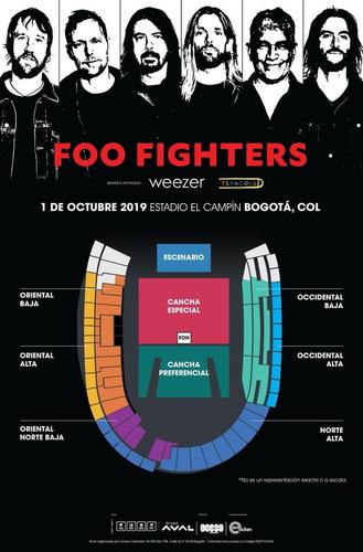 boleta foo fighters weezer el campin - 1 de octubre 2019