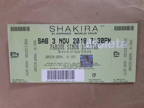 boleta para el concierto de shakira