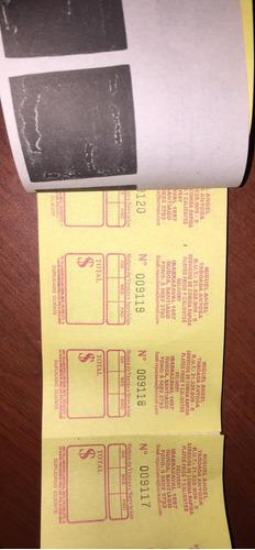 boletas 5x1 20 talonarios 5000 boletas $16.900