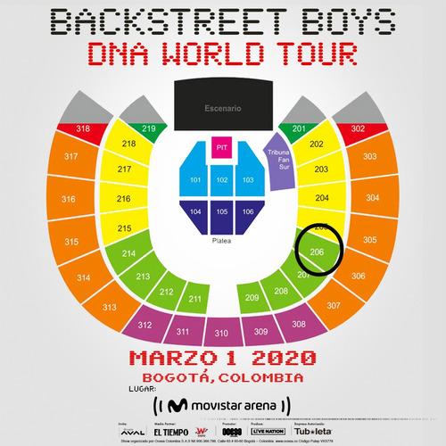 boletas backstreet boys 2 marzo dna world tour