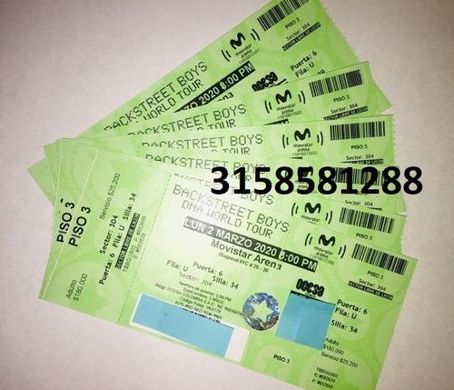 boletas backstreet boys dna world tour 02 marzo 2020 bogotá