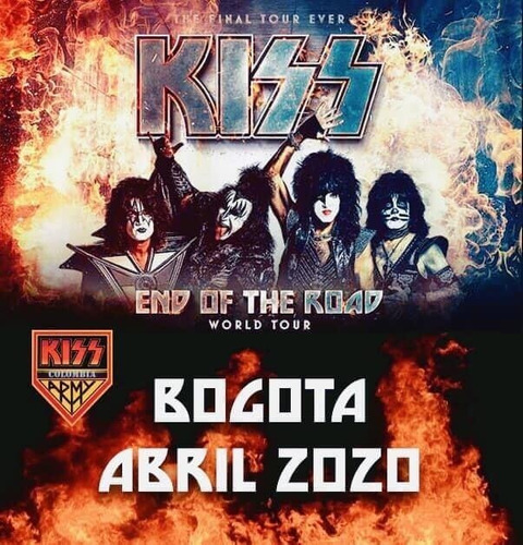 boletas boleteria kiss end on the road 2020 bloque 316