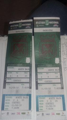 boletas para partido de patriotas, localidad norte