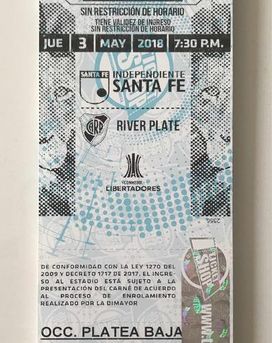 boletas santafe vs river plate