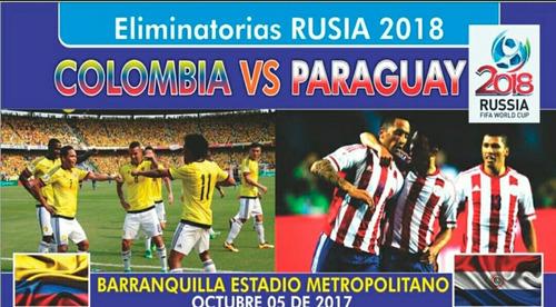 boletas sur norte partido colombia vs paraguay 5 de octubre