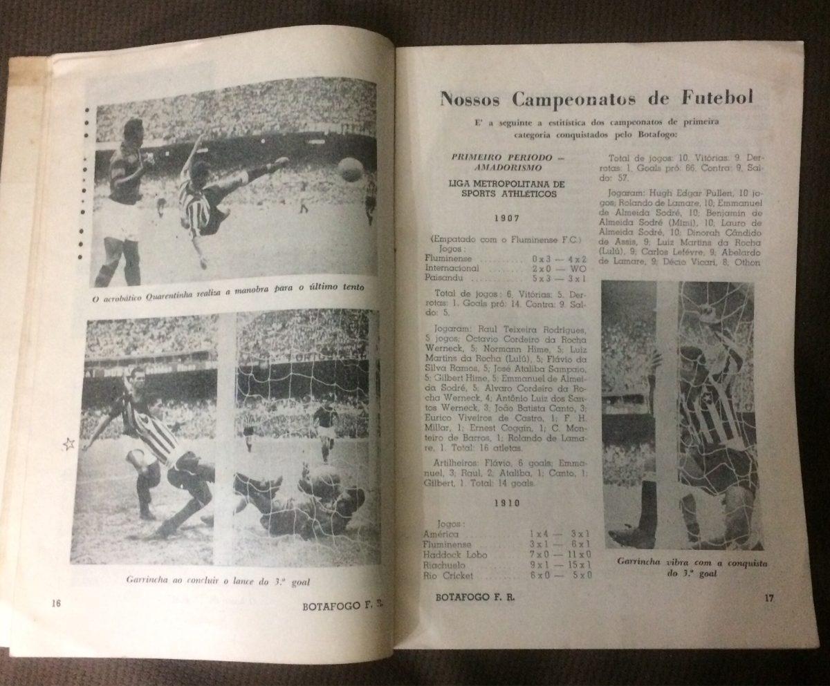 Boletim Botafogo Nº 195 Bi Campeão Carioca De 1962 - R  70 8c61fa0264195