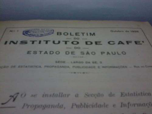 boletim do instituto de café do estado de são paulo