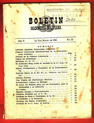boletin 1946 de la gran logia de bolivia