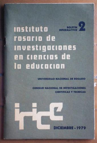 boletín ciencias de la educación / universidad rosario 1979
