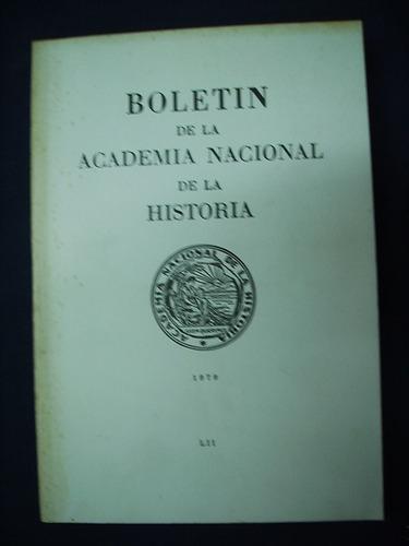 boletín de la academia nacional de la historia - 1979