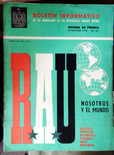 boletin informativo embajada rau - ene 1962 n°2 - bs as 17p