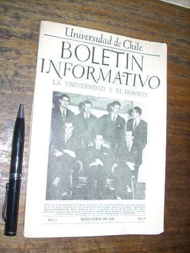 boletín informativo la universidad y el deporte 1946 u chile