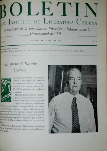 boletin literatura chilena. neruda, latcham, vicuña cifuente