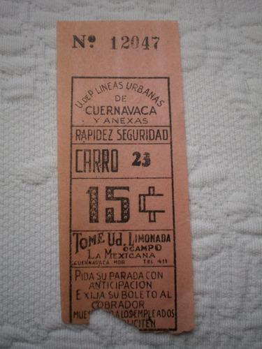 boleto antiguo de camión de pasajeros años 40s 15 centavos