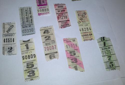 boletos capicua coleccion x 12 unidades