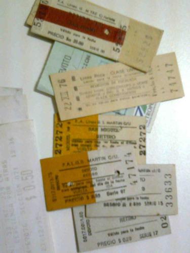 boletos capicúas tren colectivo colección lote 504 efv4000 *