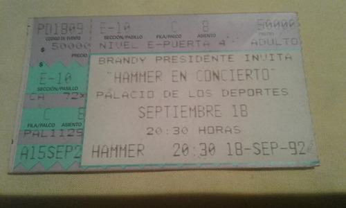 boletos conciertos  mchammer , duran duran y mecano