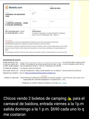 boletos de camping bahidira