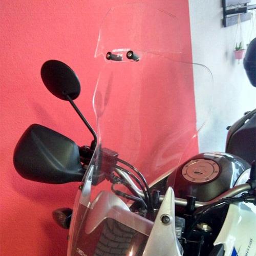 bolha alta cristal honda transalp xl700v com defletor