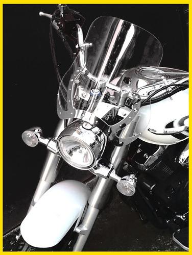 bolha para motos custom em policarbonato cristal . novo