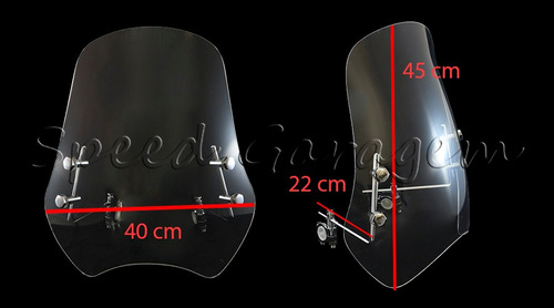 bolha parabrisa johnny pag fym 250 horizon 250 mirage