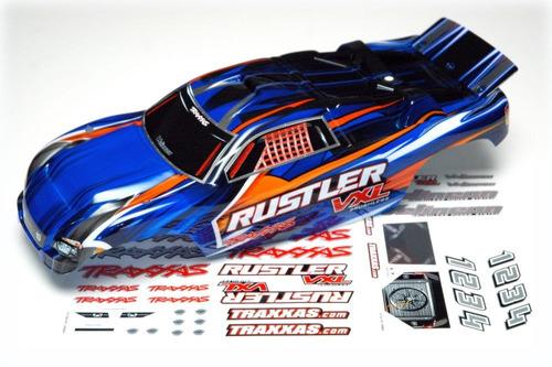 bolha rustler vxl original - traxxas - azul