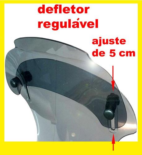 bolha tenere com defletor em policarbonato fume 4mm