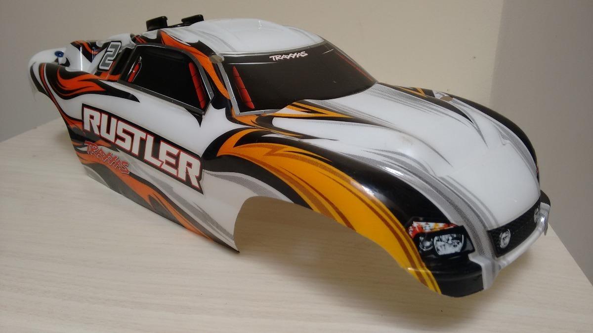 Bolha Traxxas Rustler Vxl Xl5 Branca 1 10 R 20000 Em Mercado Livre Carregando Zoom