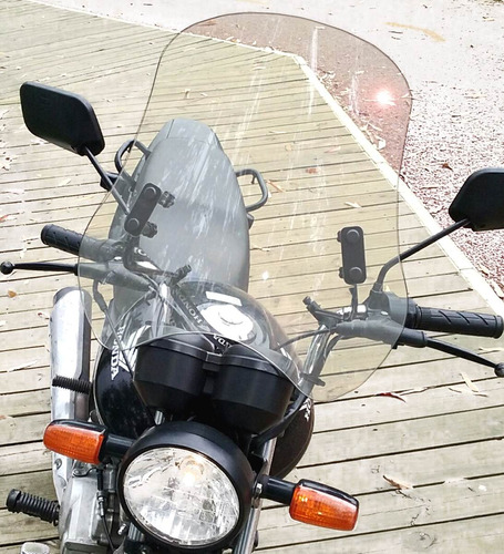 bolha universal para motos em policarbonato cristal