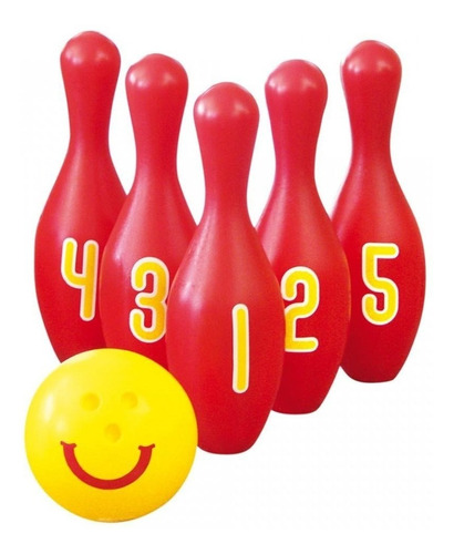 boliche gigante 5 pinos 1  bolas plástico,