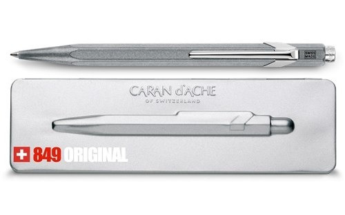 bolígrafo carandache 849 popline 849.069 gris con estuche