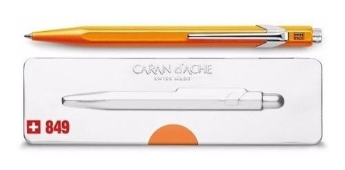 bolígrafo carandache 849 popline 849.530 naranja con estuche