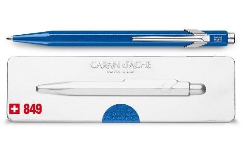 bolígrafo carandache 849 popline 849.640 azul con estuche