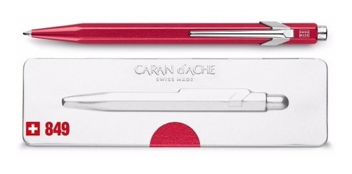 bolígrafo carandache 849 popline 849.780 rojo con estuche