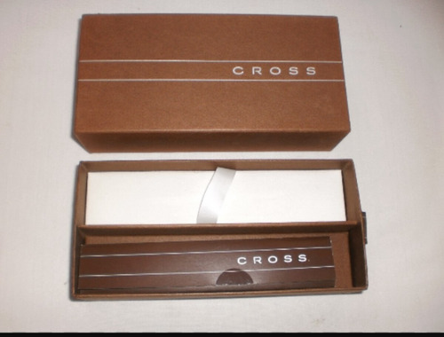 bolígrafo cross satinado negro. nuevo con caja