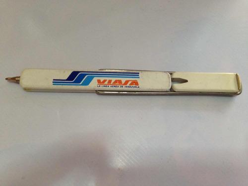 bolígrafo de colección vintage de la aerolínea viasa