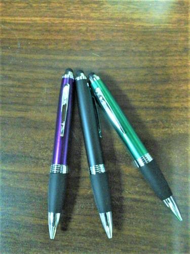 bolígrafo de metal con táctil tipo cross  grueso c/u