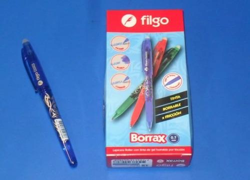 boligrafo filgo frixion gel tinta borrab 0.7 mm borrax x 3 u