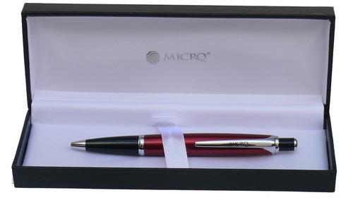 bolígrafo micro crepúsculo rojo retráctil cod. 14425