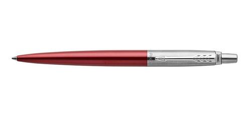 bolígrafo parker jotter kensington rojo detalles cromados
