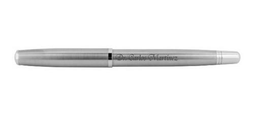 bolígrafo personalizado de acero inoxidable, incluye estuche