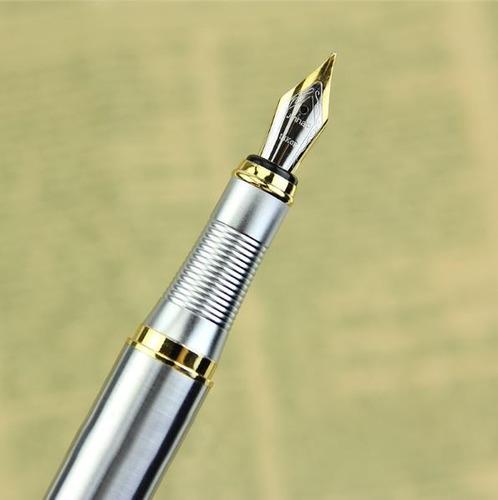 boligrafo pluma fuente acero inox + tinta envio gratis