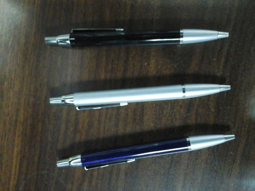 bolígrafo retráctil  tipo  parker  tinta azul  punta media