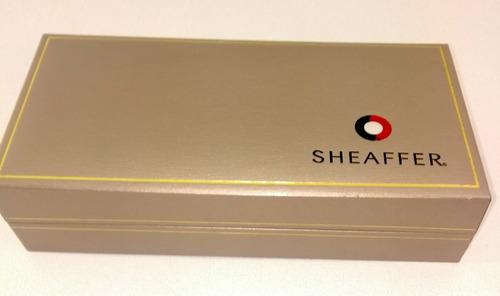 bolígrafo sheaffer. cepillado 22 k oro. ref sh-9031-2 nuevo