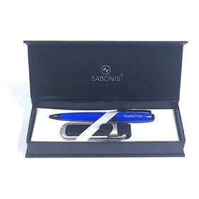 Bolígrafo Y Pendrive En Estuche Personalizado Gratis - Set
