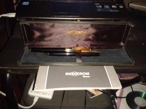bolígrafo y pluma estilográfica inoxcrom guiloche