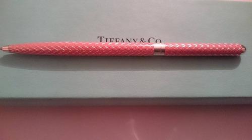 bolígrafo/pluma para dama marca tiffany original rosa.