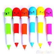 bolígrafos c/forma capsulas colores variados