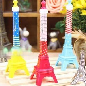 bolígrafos c/forma torre eiffel fen shui colores variados