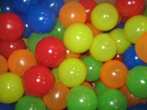 bolinha de piscina coloridas 76mm c/ 500 + brinde